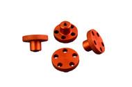 T-Maxx E-Maxx Orange Anodized Aluminum Knock Off Wheel Hub Nuts Set of 4