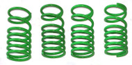 Traxxas Slayer and XO-1  green powder coated Dual Rate Shock Springs Set