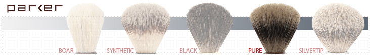 Parker Shaving Brush Grades - Pure Badger