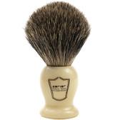 "Parker Safety Razor 100% Pure Badger Bristle ""Classic"" Ivory Handle Shaving Brush"
