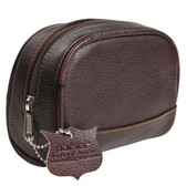 Deluxe Leather Small Toiletry Bag (Dopp Kit) from Parker Safety Razor