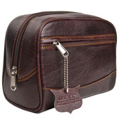 Deluxe Leather Toiletry Bag (Dopp Kit) from Parker Safety Razor