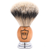 Parker Olivewood Handle Silvertip Badger Shaving Brush and Stand