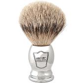 Parker Safety Razor 100% Silvertip Badger Bristle Shaving Brush (Chrome Handle)