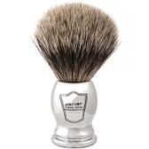 Chrome Handle Pure Badger Shaving Brush