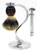 Parker 66R Heavyweight Butterfly Razor & Pure Badger 3-Piece Shave Set