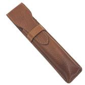 Parker Saddle Brown Leather Straight Razor Travel Case