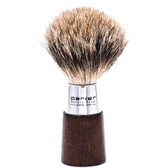 Parker Walnut Handle Deluxe Pure Badger Shave Brush & Stand