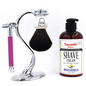 Parker & Taconic Shave 29L-Lav Women's Shave Set with Safety Razor, Shave Brush & Shave Cream
