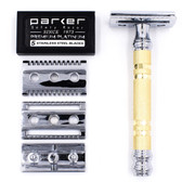 Parker Convertible Safety Razor with Open & Closed Comb Plates
