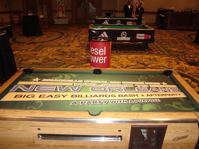 Big Easy Billiards Bash Custom Pool Table Felt