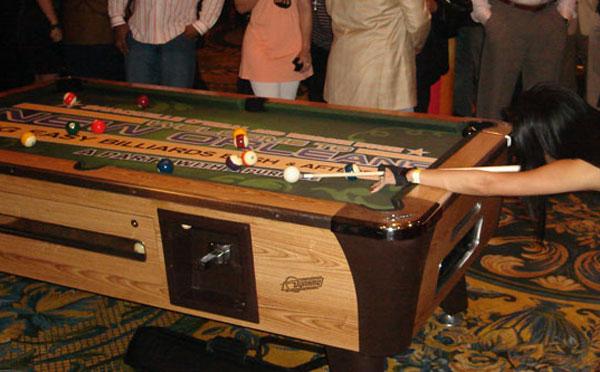 Big Easy Billiard Bash Custom ArtScape Pool Table Felt