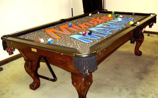 Marine Custom ArtScape Pool Table Felt