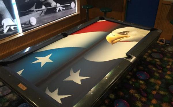 Patriotic Eagle Custom VIVID Pool Table Felt
