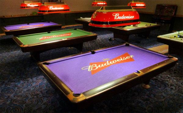 Budweiser Custom ArtScape Pool Table Felt