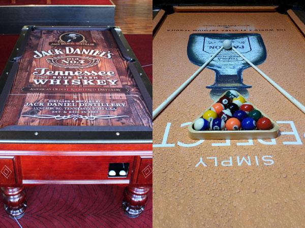 Gentil ... Custom Artscape Pool Table Felt Examples