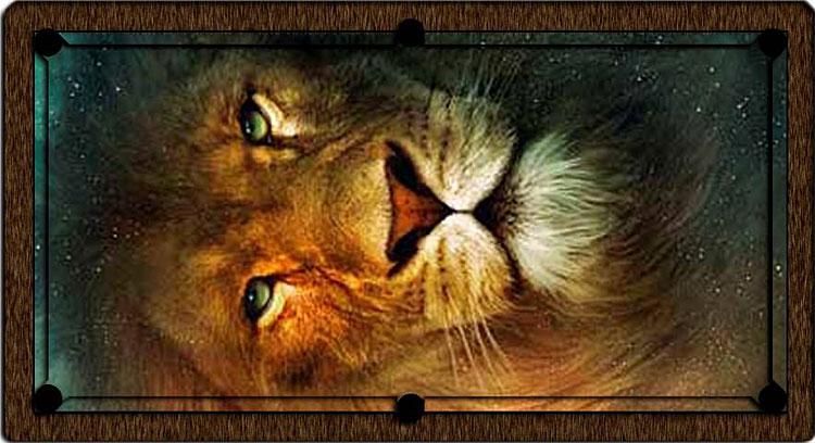 Lion Head ArtScape Custom Pool Table Felt