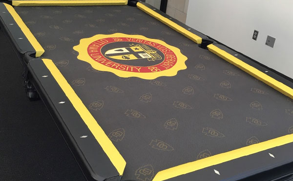 Ottawa University Custom Pool Table Felt