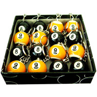 Box of 16 Pool Ball Scuffer Key Chains