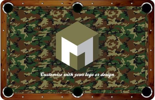 ArtScape 8 ft Custom Pool Table Felt Design