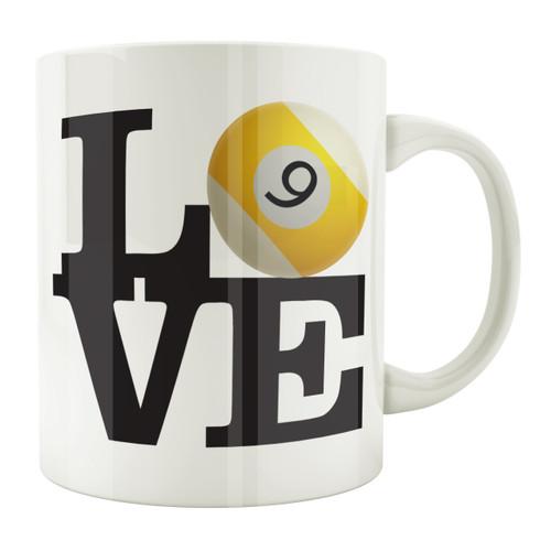 Love 9-Ball 11oz. Coffee Mug