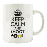 Keep Calm and Shoot Pool 11oz. Coffee Mug