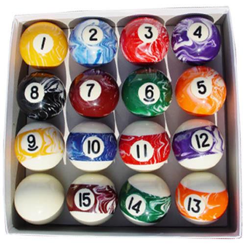 Sterling Designer Marbleized Pool Ball Set