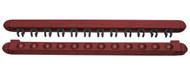 Roman-Style Two-Piece Wall Rack, Mahogany, 12 Cue