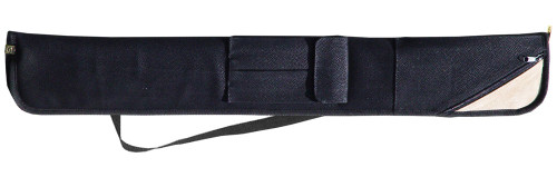 Sterling Black Angora Pool Cue Case for 2 Cues