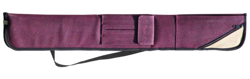 Sterling Burgundy Angora Pool Cue Case for 2 Cues