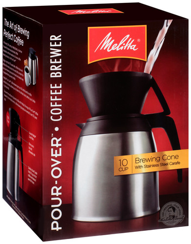 Melitta® Thermal Stainless Steel 10-Cup Pour-Over Coffee Maker