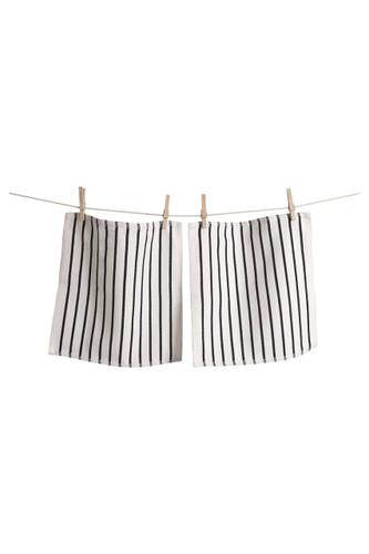 KAF Home Whim Basket Weave Casserole Towels, Black, Set of 2