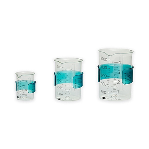 "Chef'n® ""Measure Up"" Measuring Cups in Clear/Blue (Set of 3)"