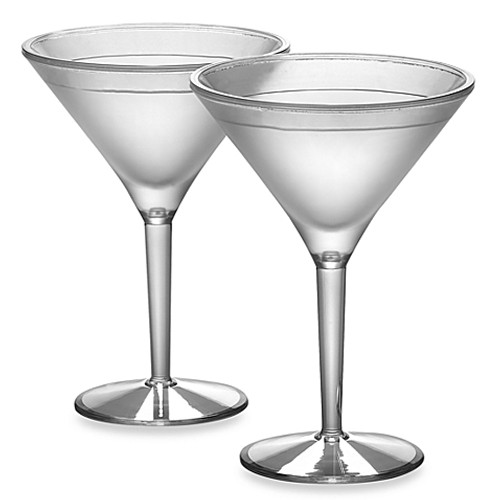 Prodyne Acrylic 10-Ounce Iced Martini Glasses (Set of 2)