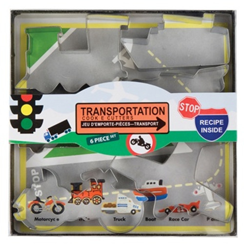 Fox Run 6-Piece Transportation Cookie Cutter Set