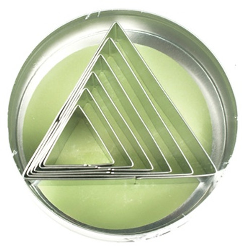 Fox Run 6-Piece Triangle Shape Cookie Cutter Set