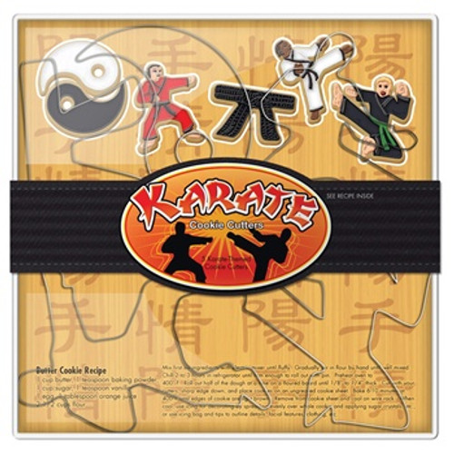 Fox Run 5-Piece Karate Cookie Cutter Set