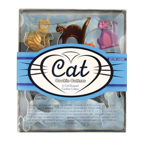 Fox Run 5-Piece Cat Cookie Cutter Set