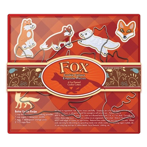 Fox Run 4-Piece Fox Cookie Cutter Set