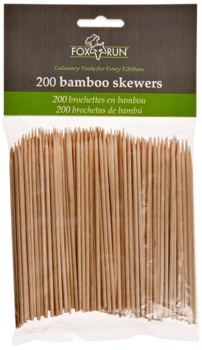 "Fox Run 4"" Bamboo Skewers, Set of 200"
