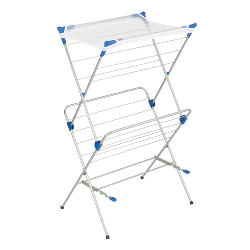Honey Can Do® 2-Tier Mesh Top Premium 40-Inch Drying Rack, Silver