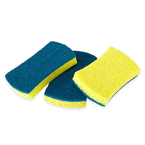 Full Circle 3-Count Refresh Scrubber Sponges