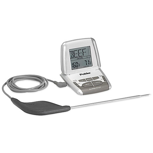 Polder® Deluxe Preset Oven Cooking Thermometer with Ultra Probe