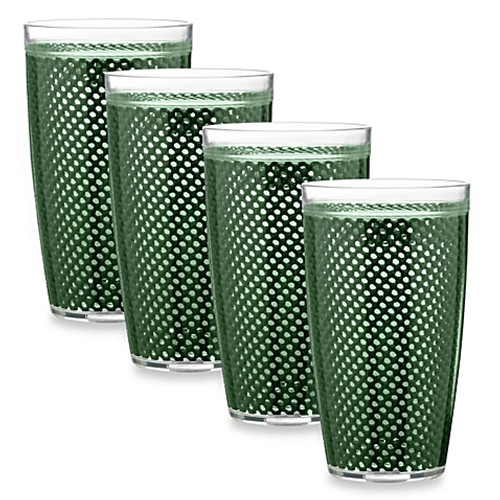 Kraftware™ Fishnet 22 Oz. Doublewall Drinkware in Hunter Green (Set of 4)