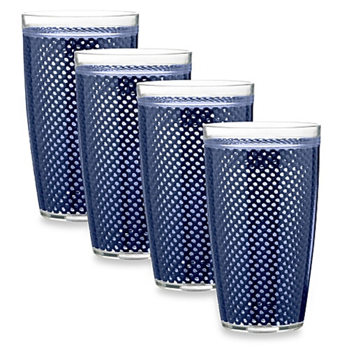 Kraftware™ Fishnet 22 Oz. Doublewall Drinkware in Navy (Set of 4)