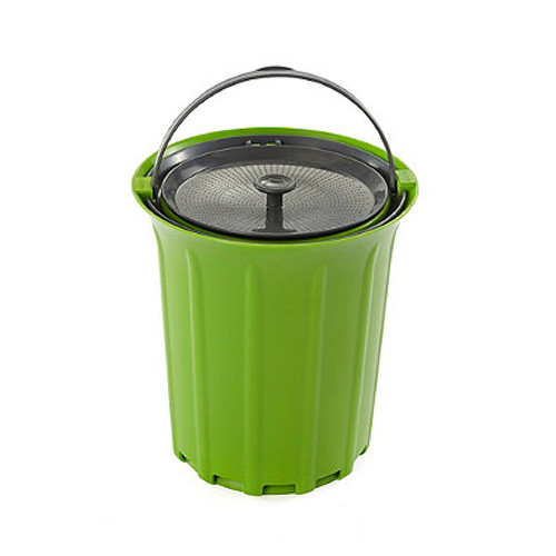 Full Circle Breeze .85 Gallon Countertop Compost Bin in Green/Slate