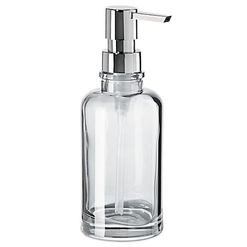 OGGI® Round Glass 12 oz. Soap Dispenser in Clear