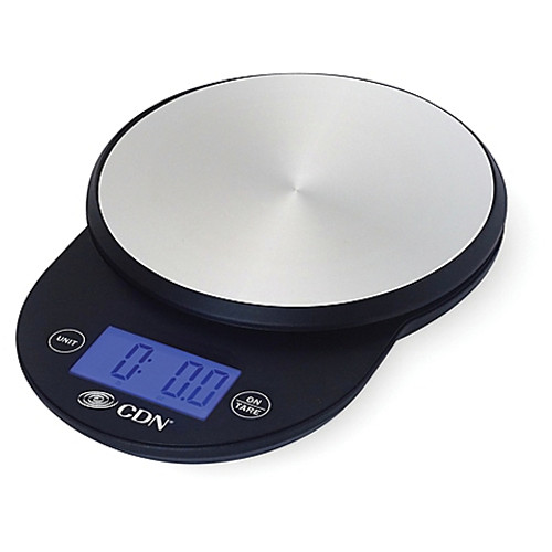 CDN ProAccurate 11 lb. Digital Stainless Steel Food Scale in Black