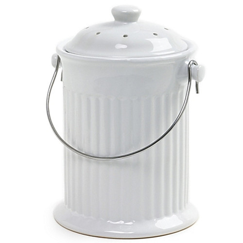 Norpro® Ceramic Compost Crock in White