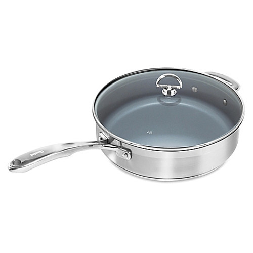 Chantal® Nonstick Ceramic Coated Induction 21 Steel™ 5 qt. Covered Sauté Pan